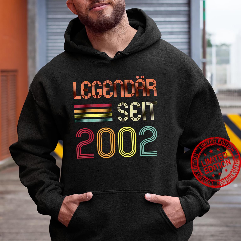 19. Geburtstag Legendär Seit 2002 Geschenk Shirt hoodie