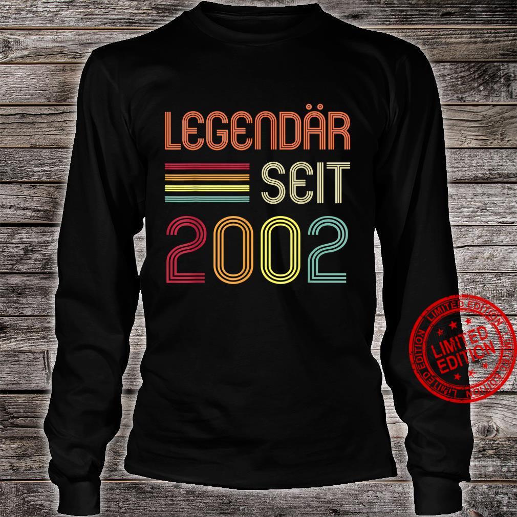 19. Geburtstag Legendär Seit 2002 Geschenk Shirt long sleeved