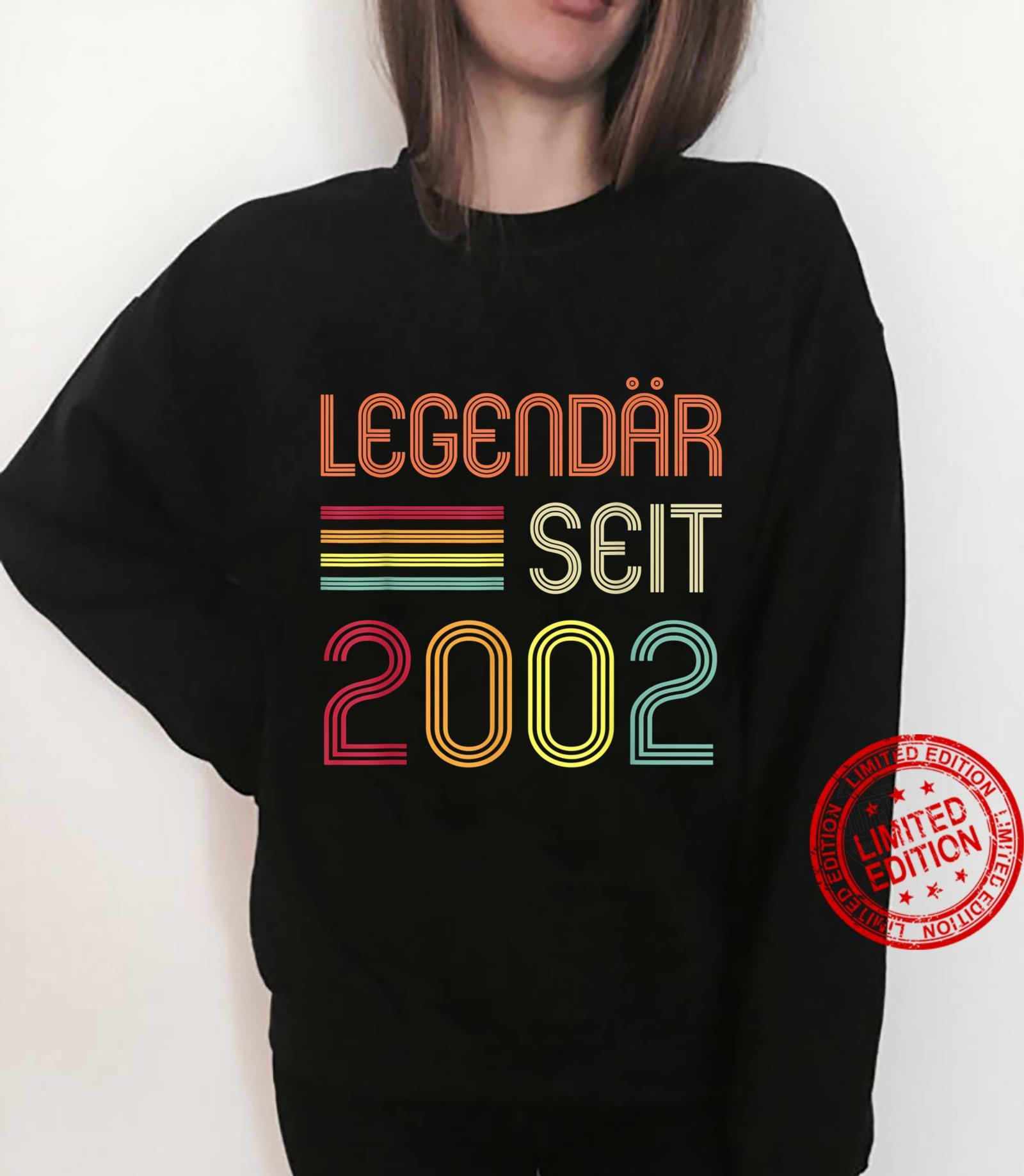19. Geburtstag Legendär Seit 2002 Geschenk Shirt sweater