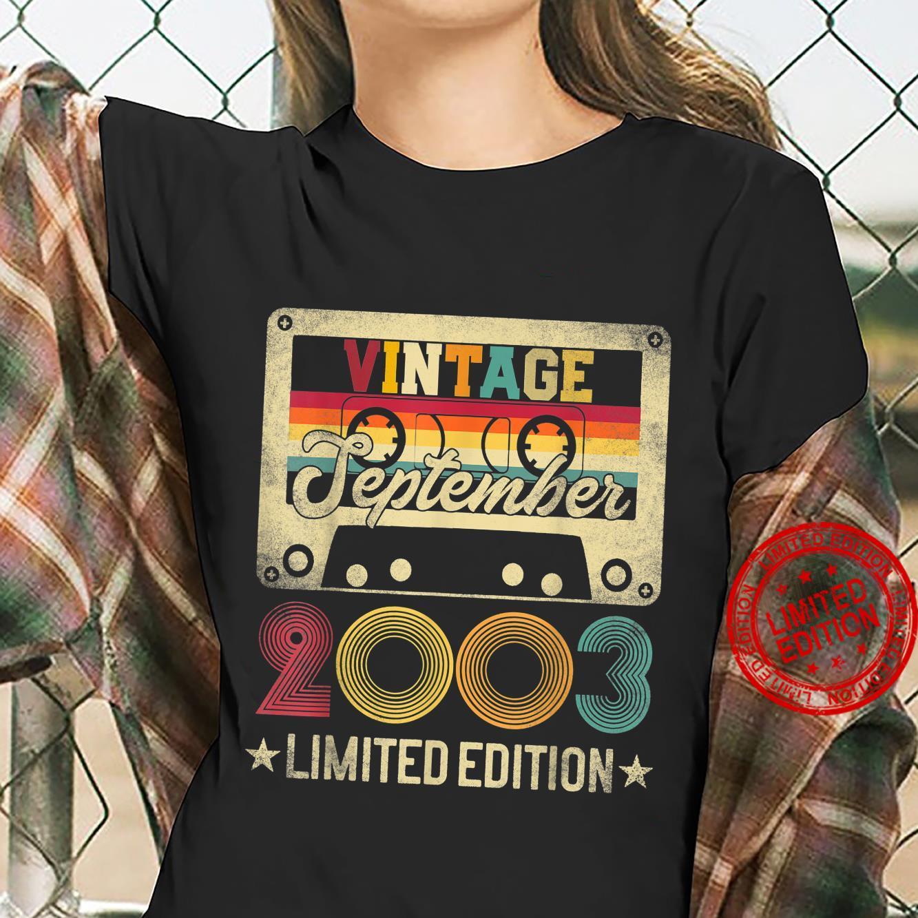 2003 18th September Birthday Limited Edition Vintage Shirt ladies tee