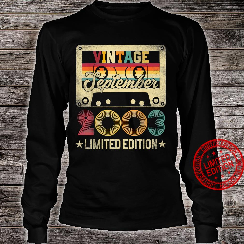 2003 18th September Birthday Limited Edition Vintage Shirt long sleeved