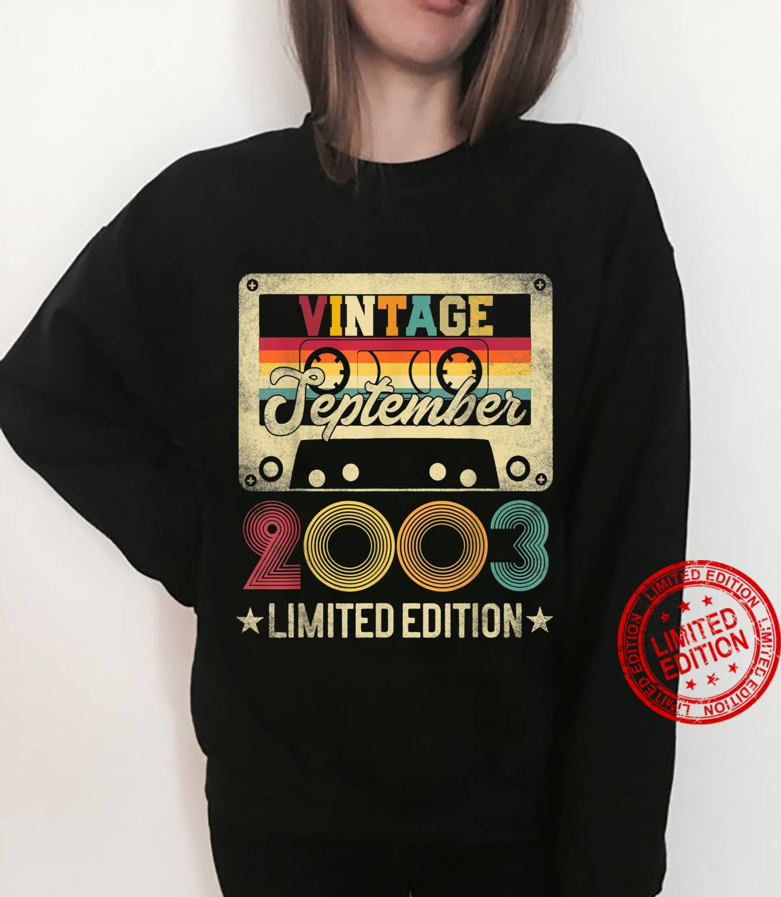 2003 18th September Birthday Limited Edition Vintage Shirt sweater