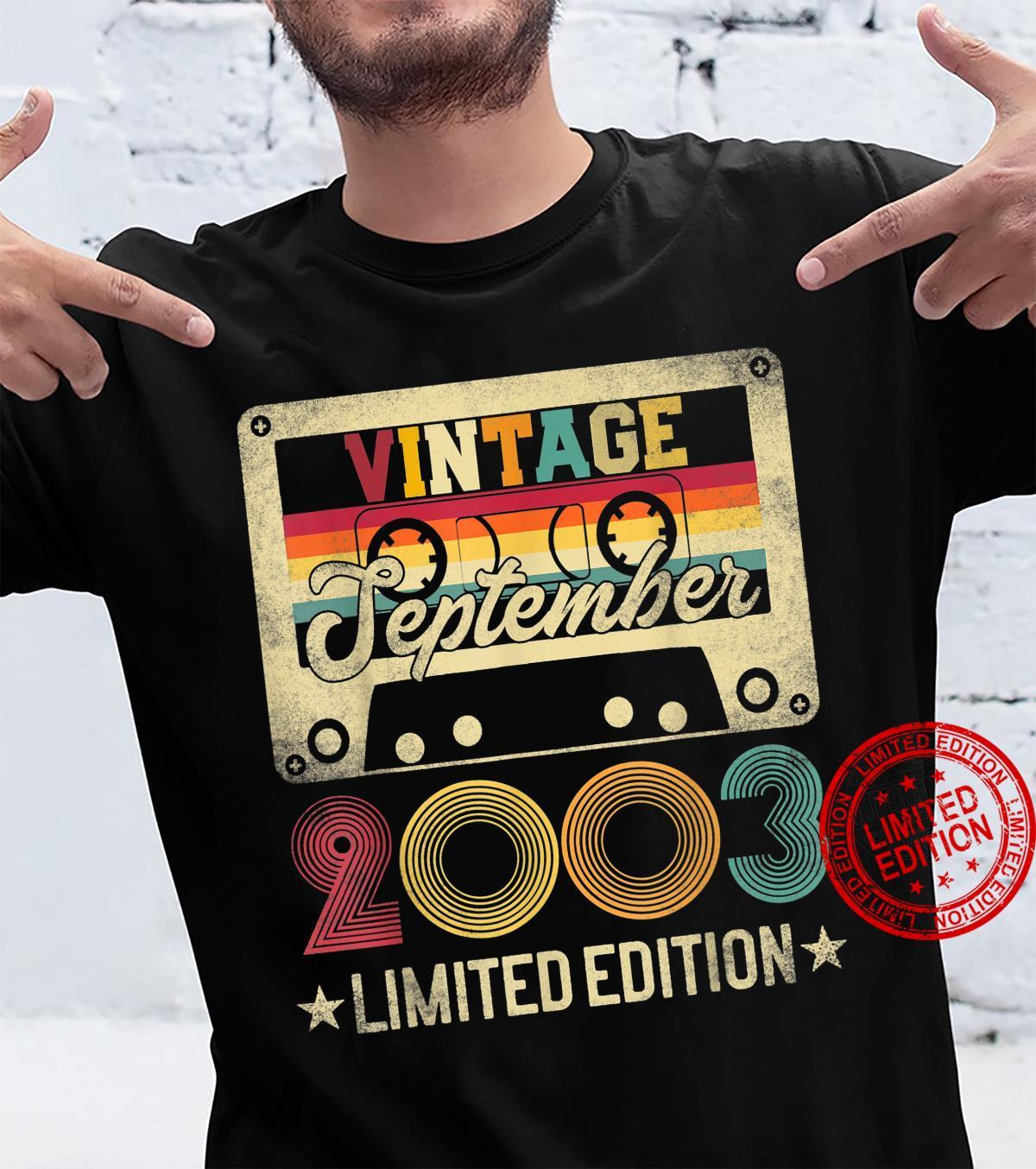 2003 18th September Birthday Limited Edition Vintage Shirt