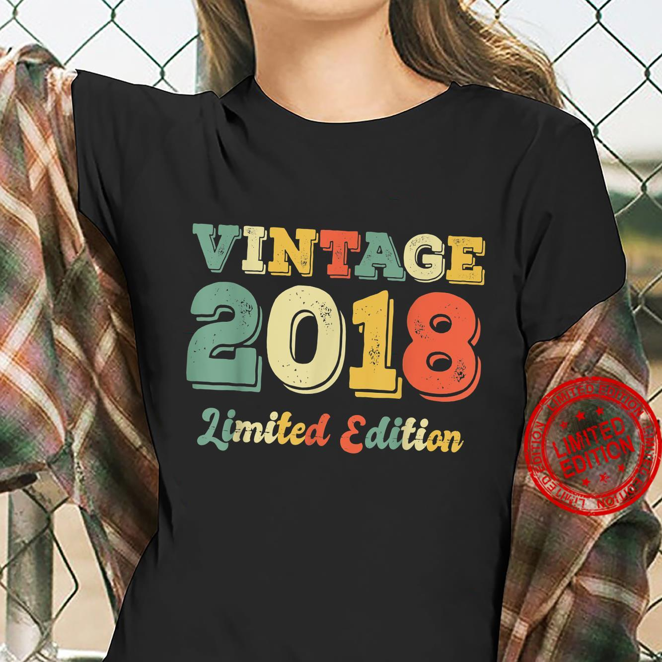 3 Year Old Born In 2018 Limited Edition 3rd Birthday Shirt ladies tee