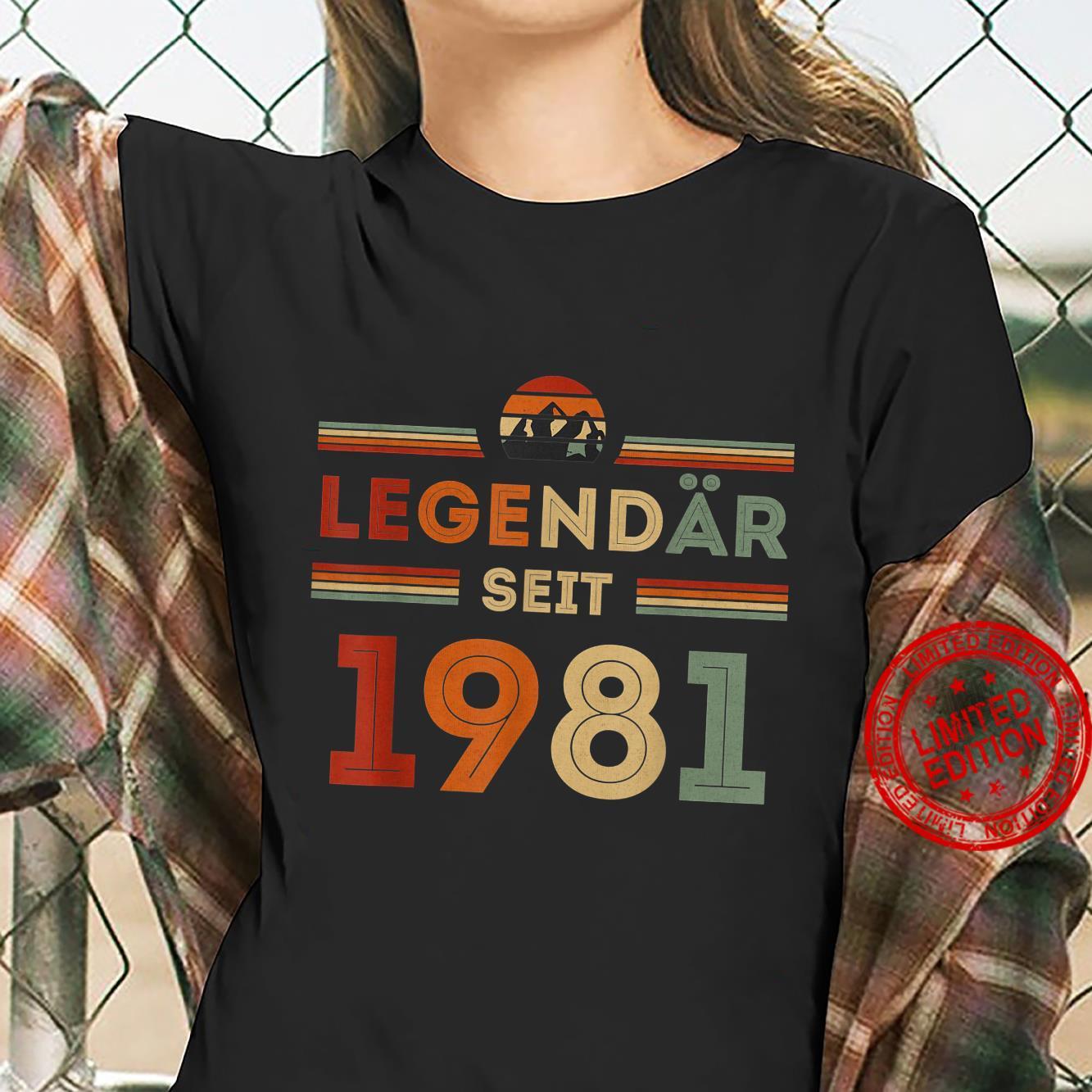 40. Geburtstag Legendär Seit 1981 Vintage Retro Geschenk Shirt ladies tee