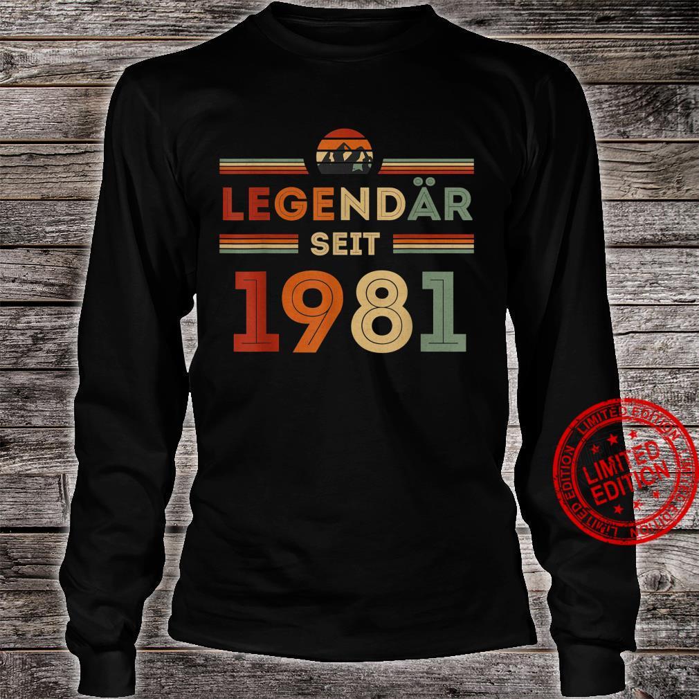 40. Geburtstag Legendär Seit 1981 Vintage Retro Geschenk Shirt long sleeved