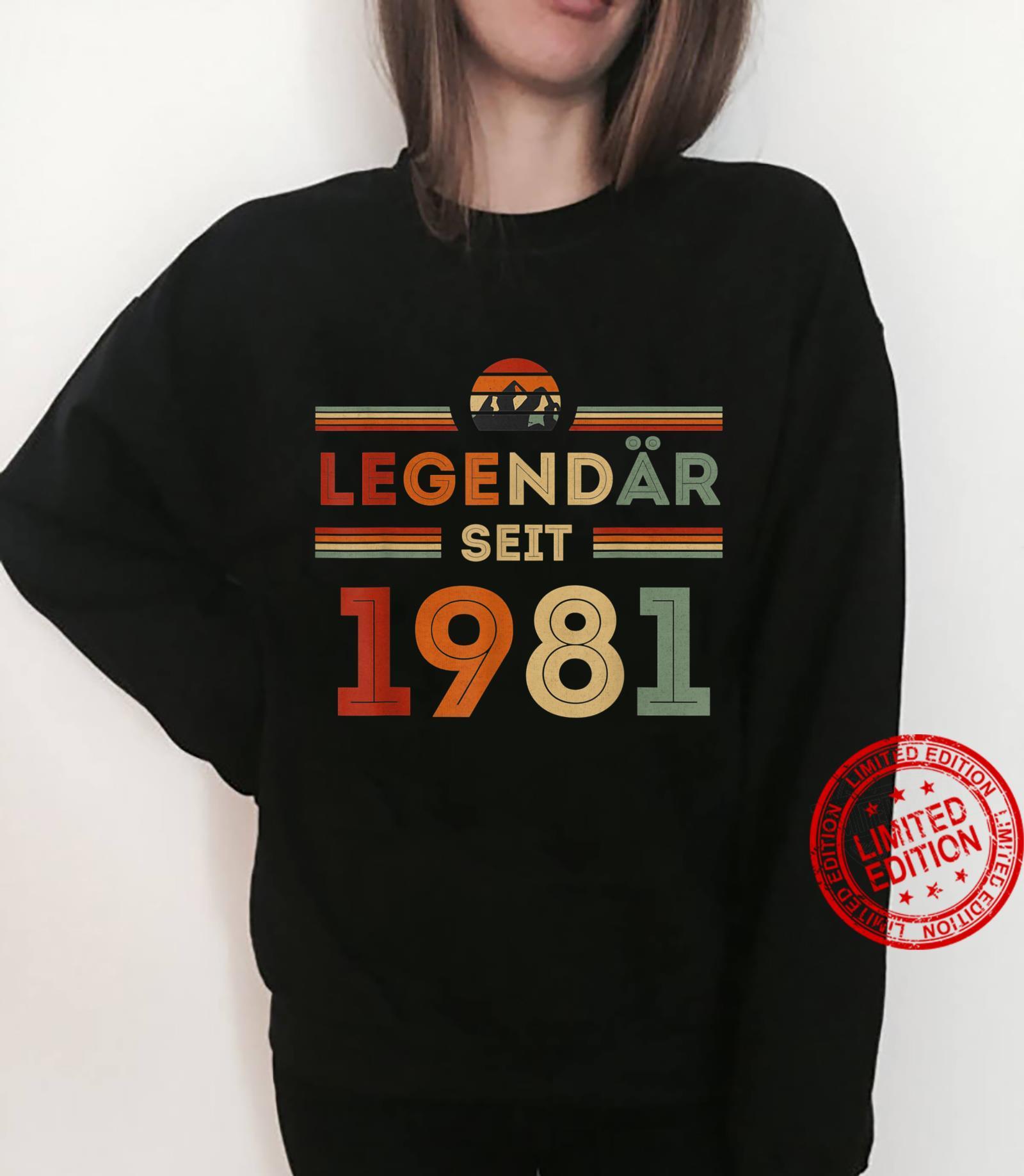 40. Geburtstag Legendär Seit 1981 Vintage Retro Geschenk Shirt sweater