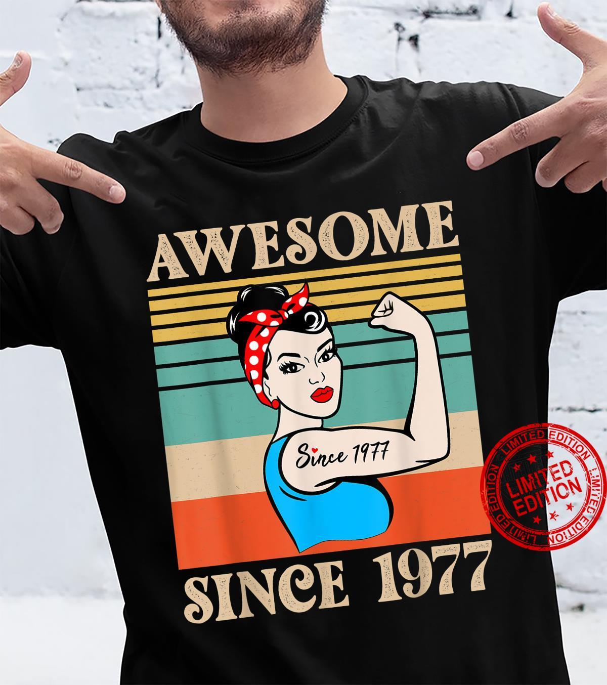 44 year old birthday 1977 vintage 44th birthday Shirt