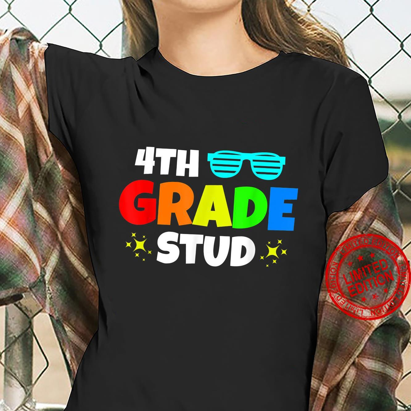 4th Grade Stud Sunglasses Back To School First Day Of School Shirt ladies tee