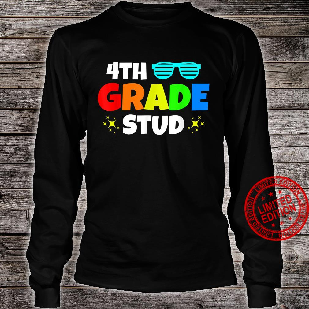 4th Grade Stud Sunglasses Back To School First Day Of School Shirt long sleeved