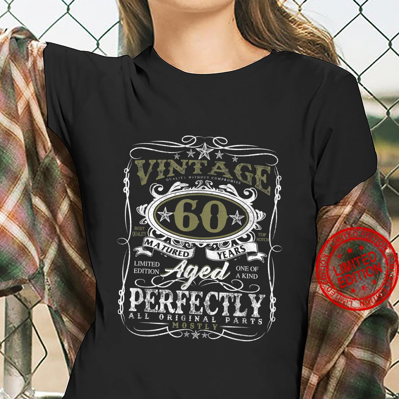 60 Year Old Vintage 1961 Limited Edition 60th Birthday Shirt ladies tee