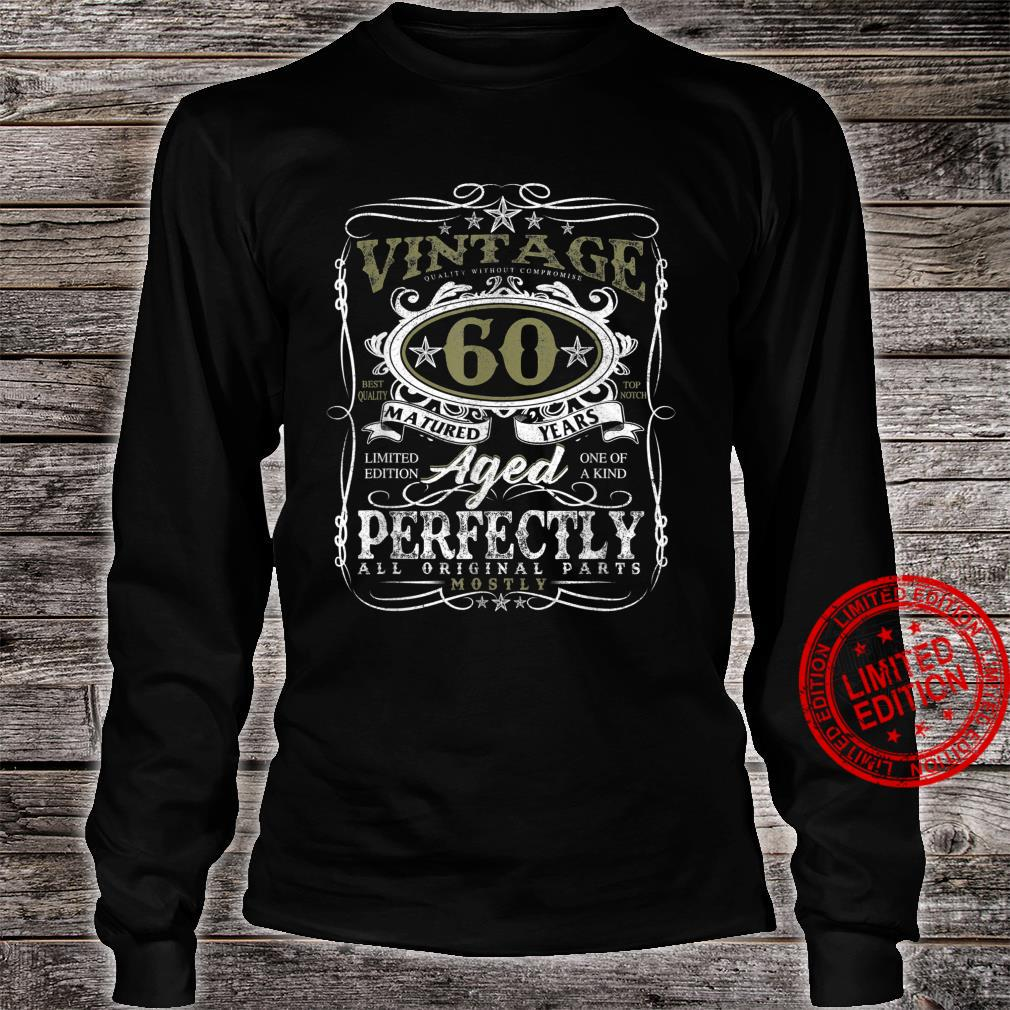 60 Year Old Vintage 1961 Limited Edition 60th Birthday Shirt long sleeved