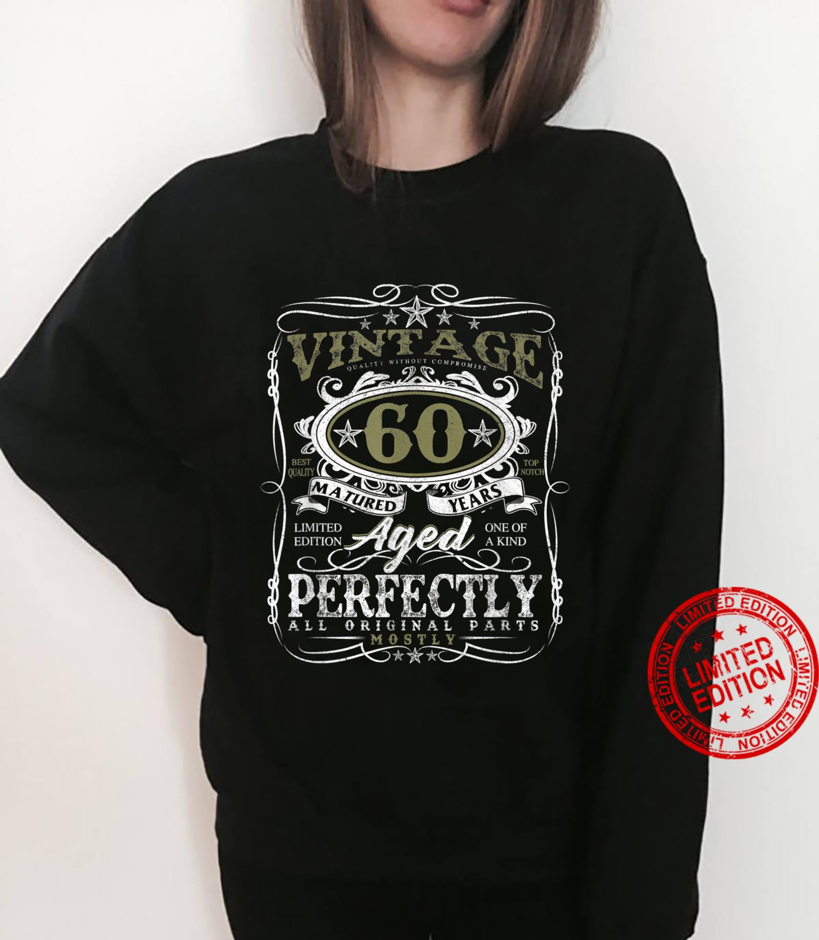 60 Year Old Vintage 1961 Limited Edition 60th Birthday Shirt sweater