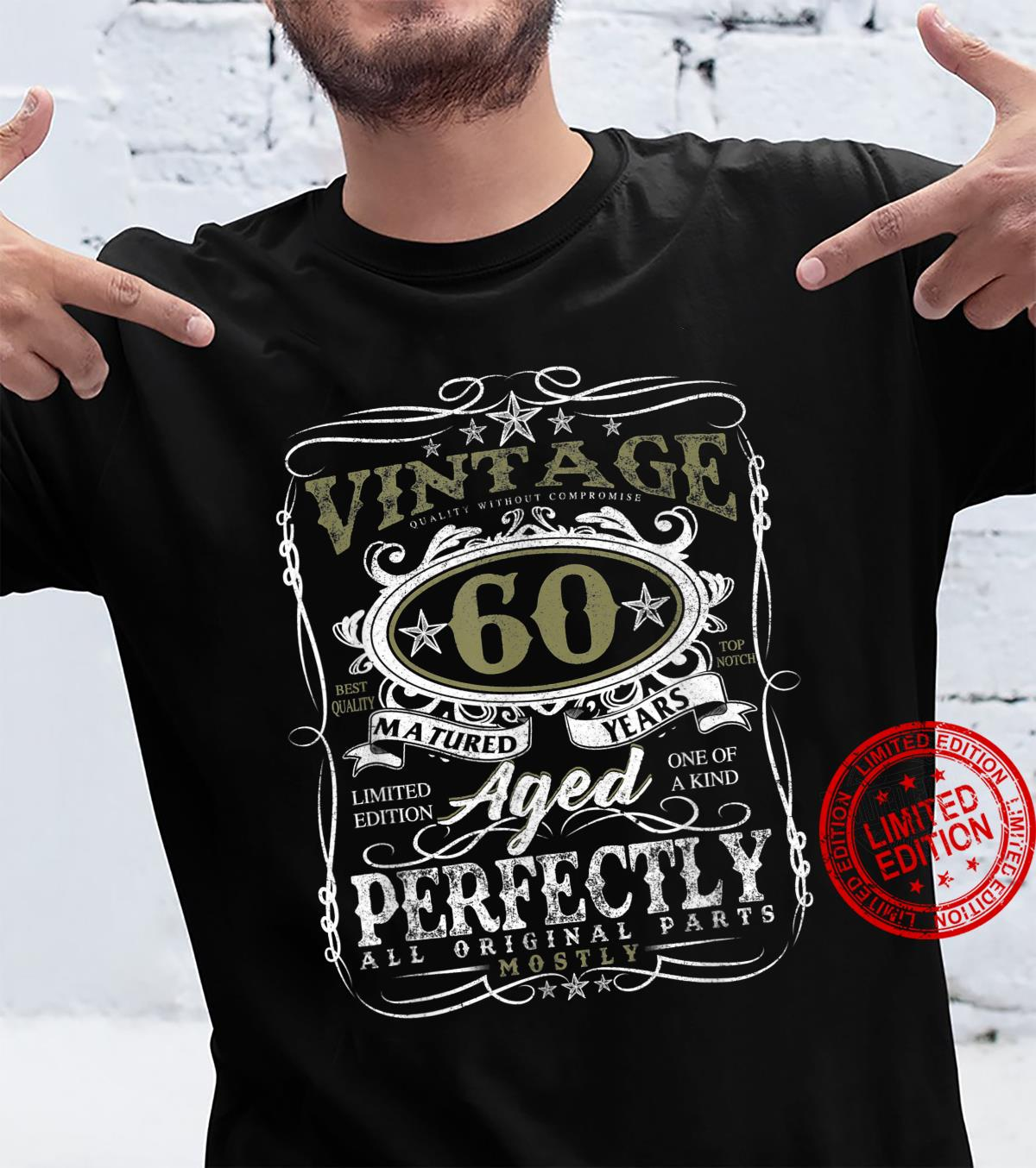 60 Year Old Vintage 1961 Limited Edition 60th Birthday Shirt