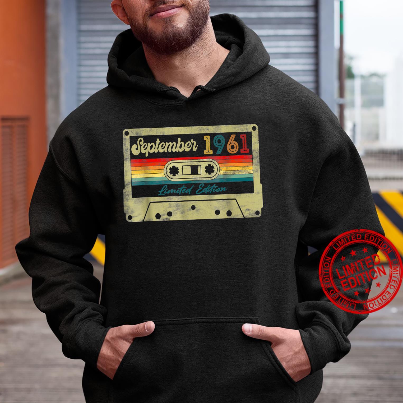 60th Birthday Music Decorations September 1961 Cassette Tap Shirt hoodie