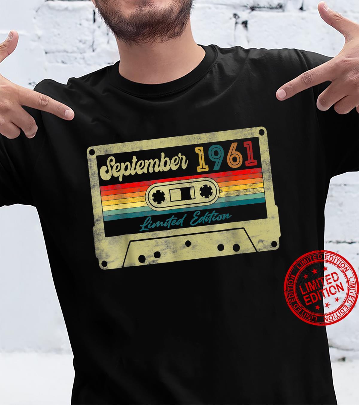 60th Birthday Music Decorations September 1961 Cassette Tap Shirt