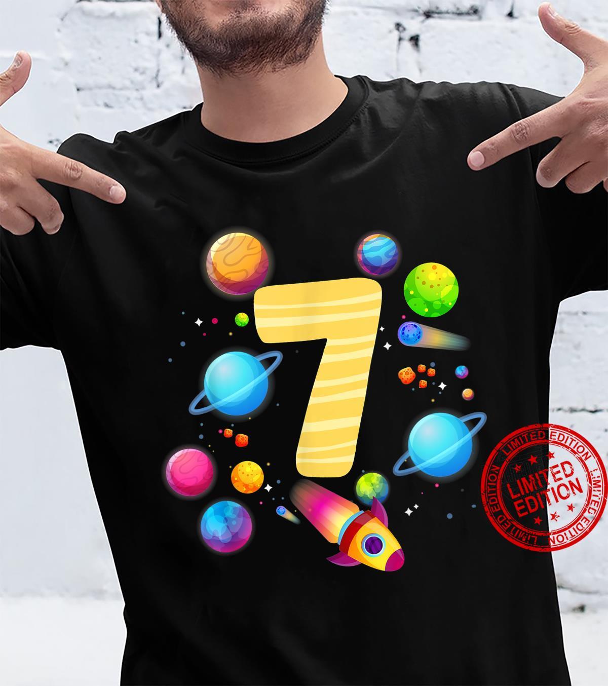 7. Geburtstag Astronaut und Weltraum Shirt