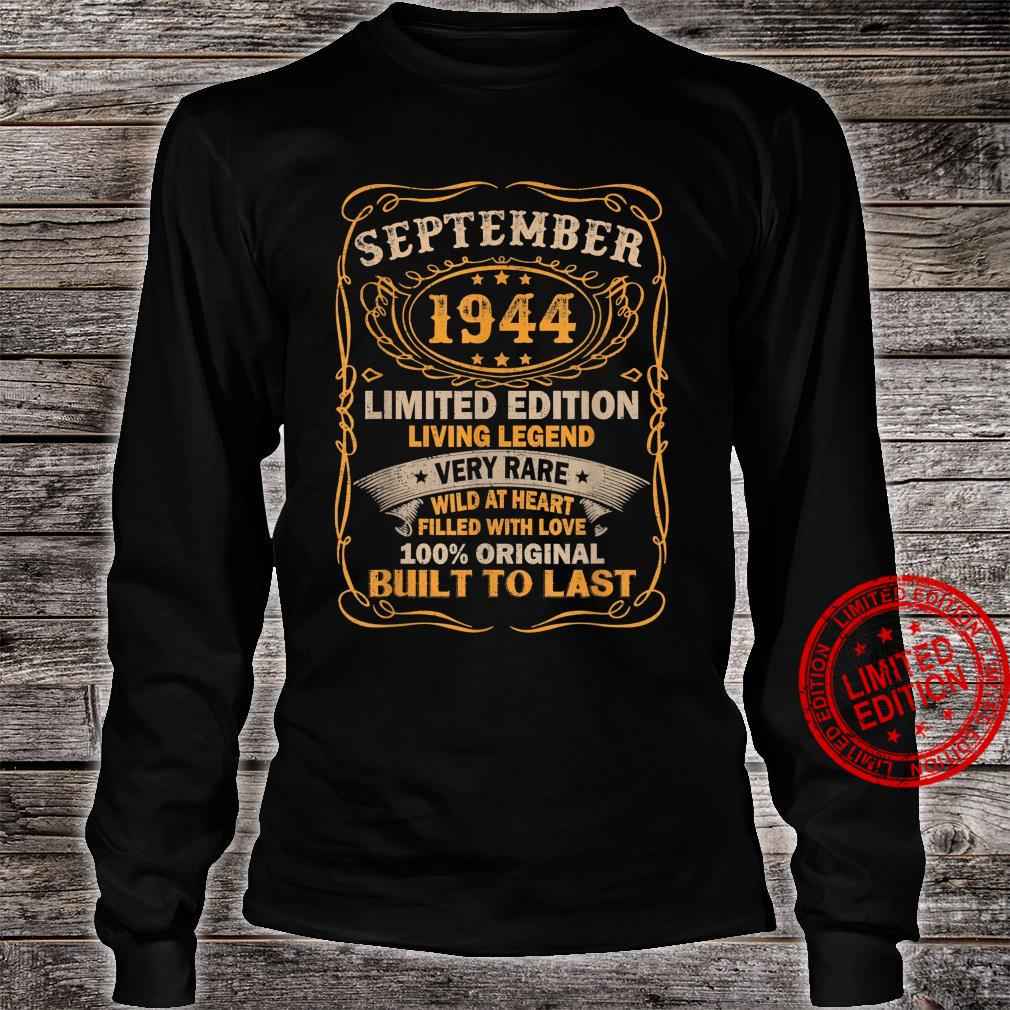 77 Years Old Vintage September 1944 77th Birthday Shirt long sleeved