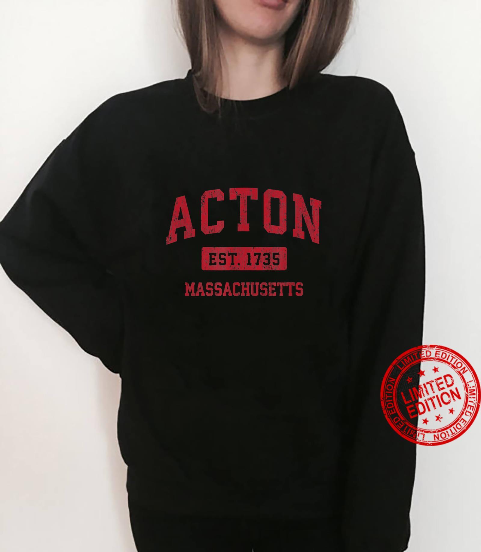 Acton Massachusetts MA Vintage Sports Design Red Design Shirt sweater