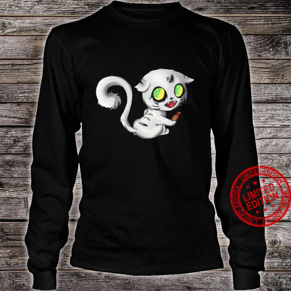 Alien Scary white Cat Halloween Tops 2020 Shirt long sleeved