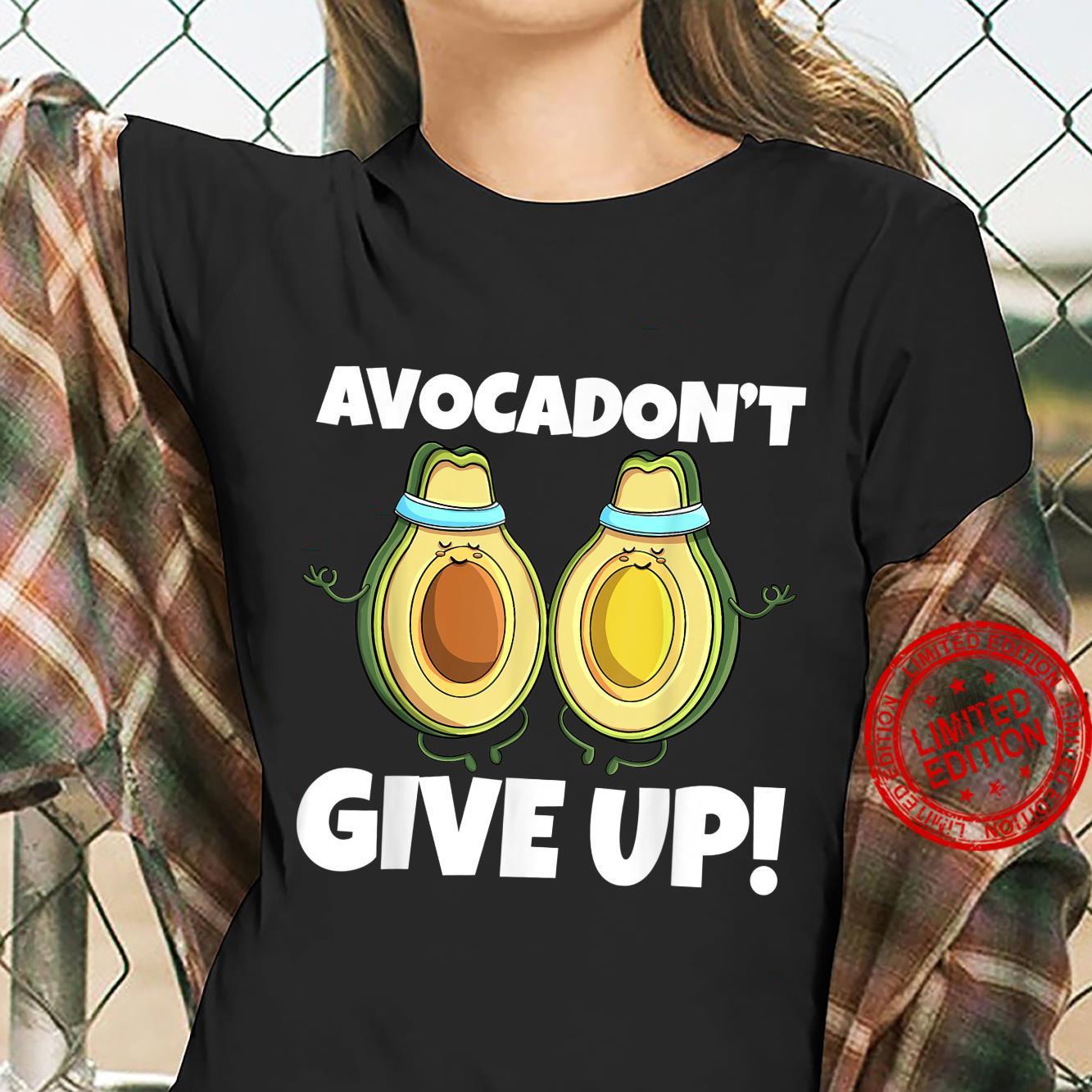 Avocadon't Give Up Avo Vegan Cat Love Shirt ladies tee
