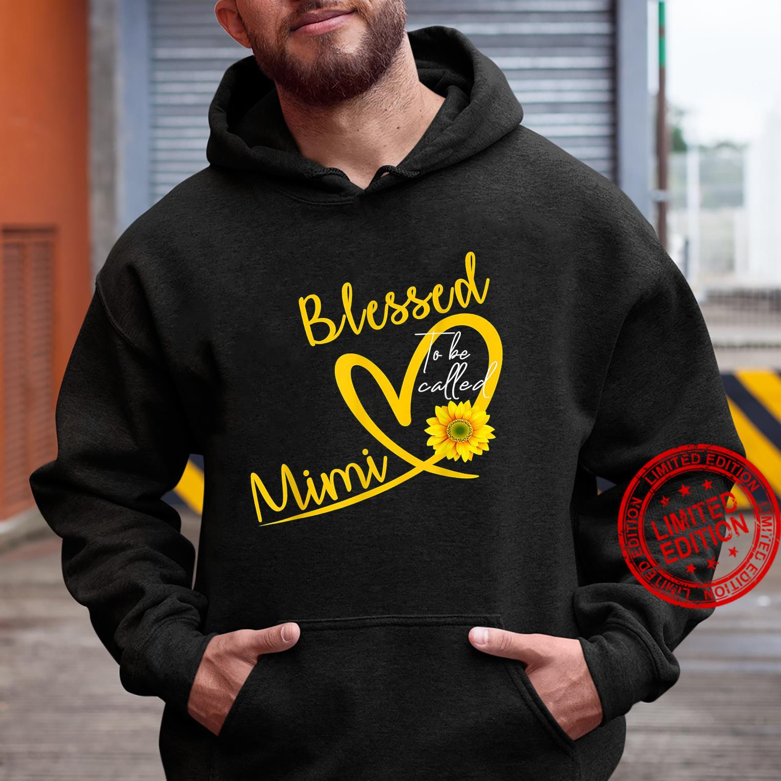 Blessed To Be Called Mimi Heart Sunflower Mother's Day Shirt hoodie