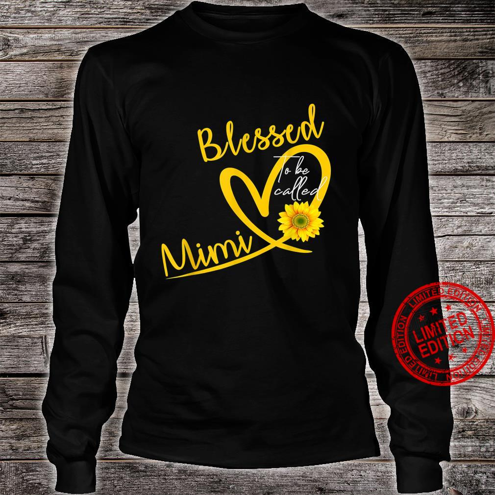 Blessed To Be Called Mimi Heart Sunflower Mother's Day Shirt long sleeved
