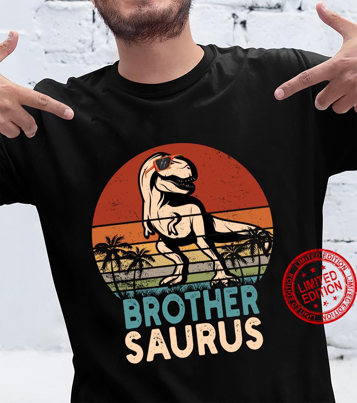Brother Saurus TRex Dinosaur Cool Brothersaurus Vintage Shirt