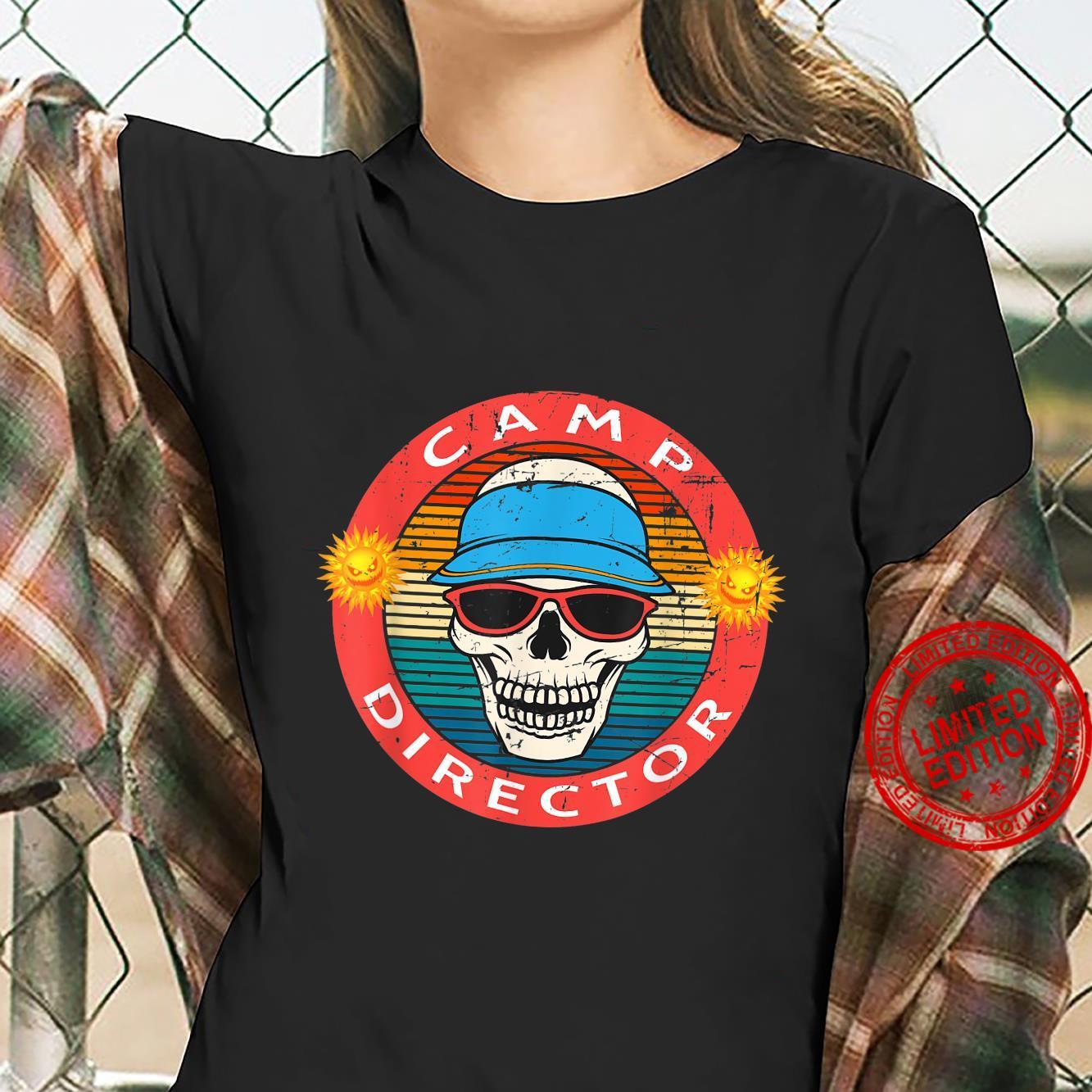 Camp Director Summer Horror Movie Skull Novelty Shirt ladies tee