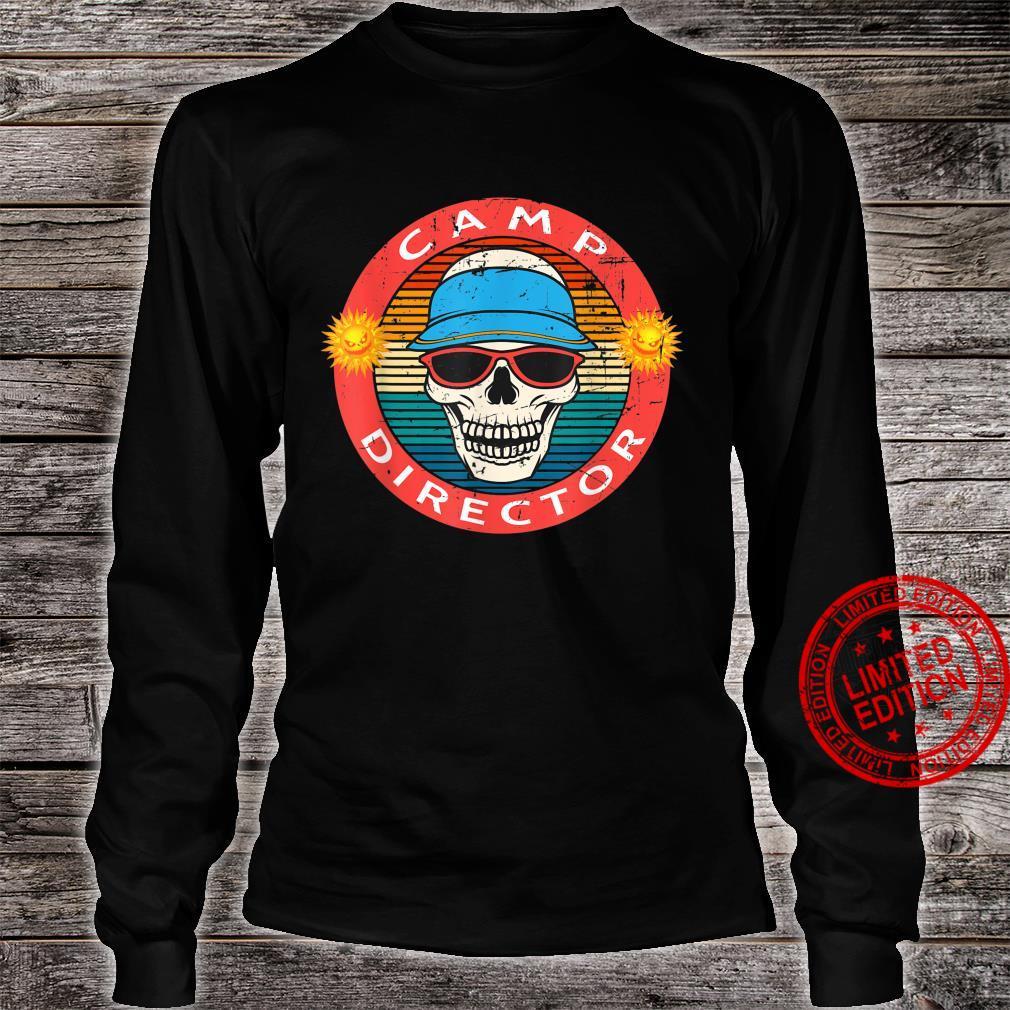 Camp Director Summer Horror Movie Skull Novelty Shirt long sleeved
