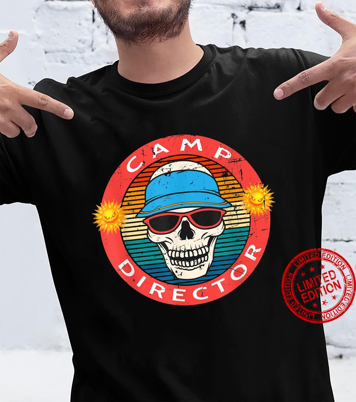Camp Director Summer Horror Movie Skull Novelty Shirt