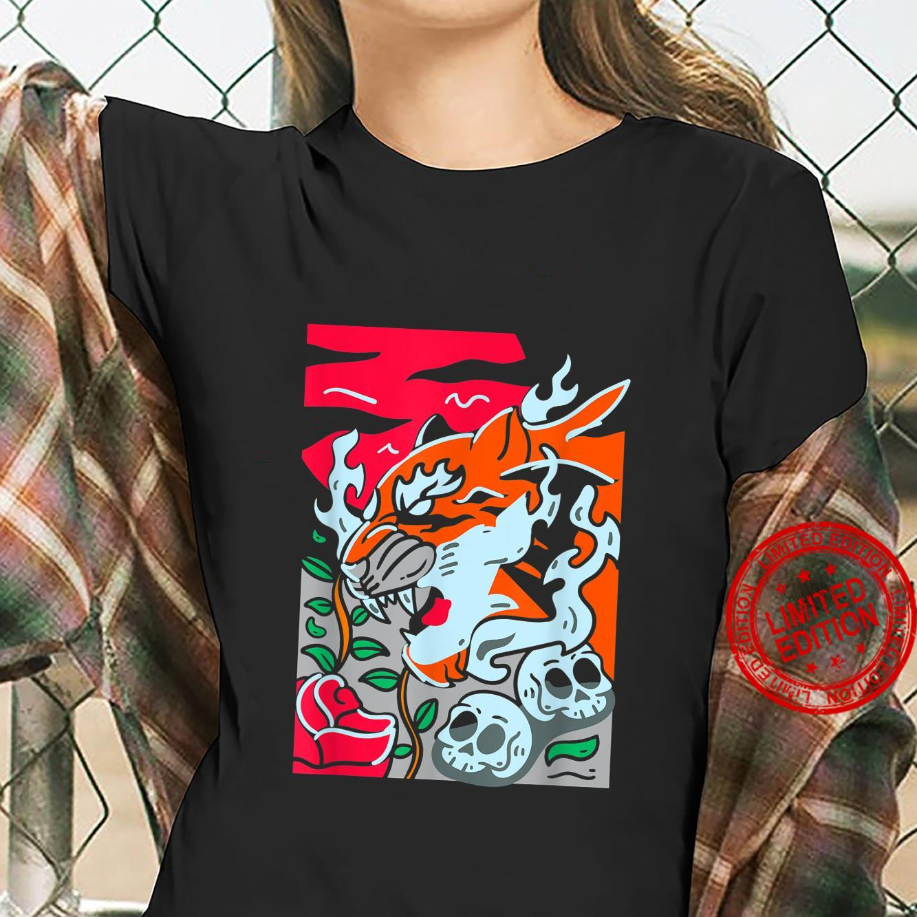 Cool Wild Abstract Tiger Noveltys & Cool Designs Shirt ladies tee