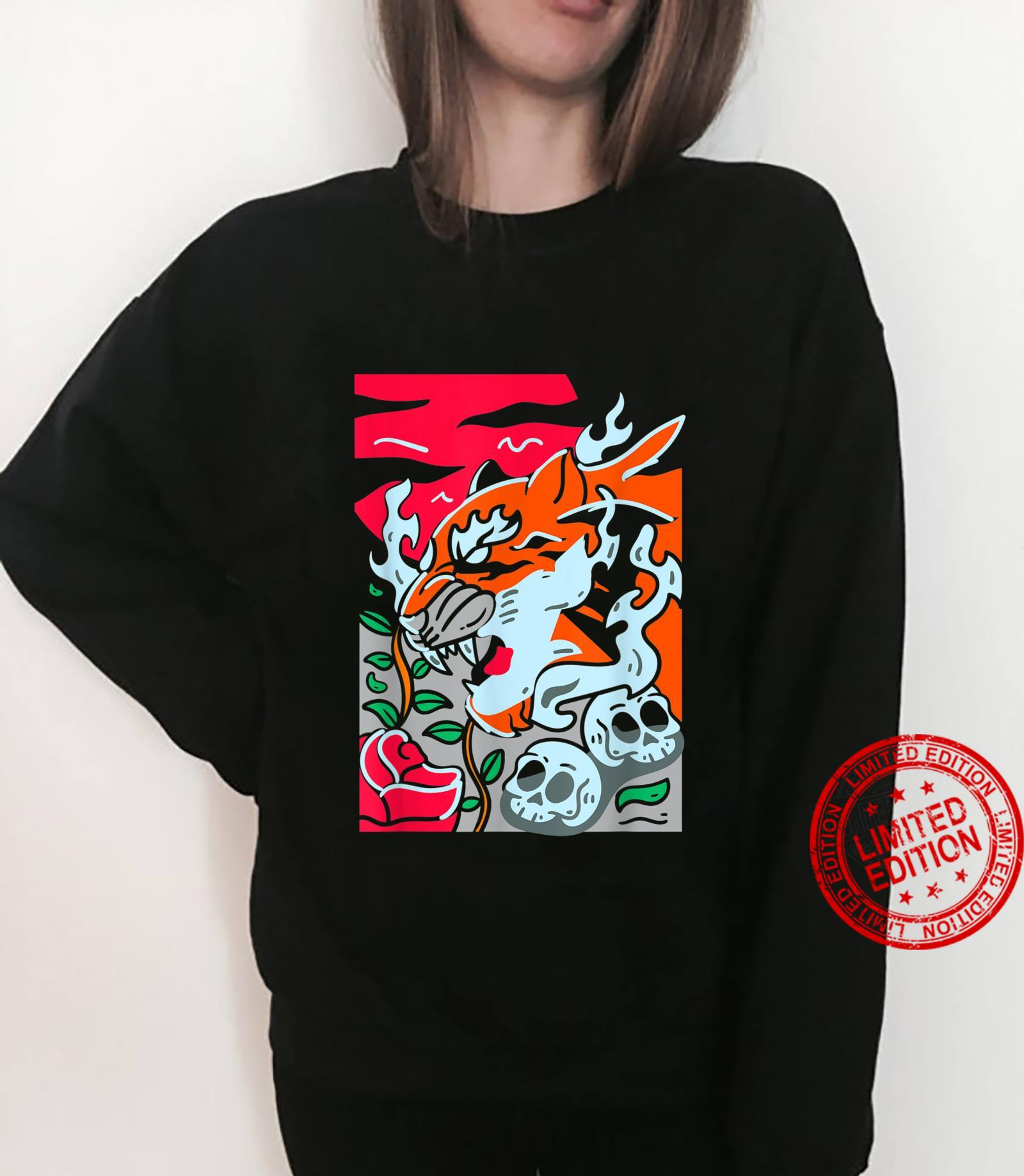 Cool Wild Abstract Tiger Noveltys & Cool Designs Shirt sweater