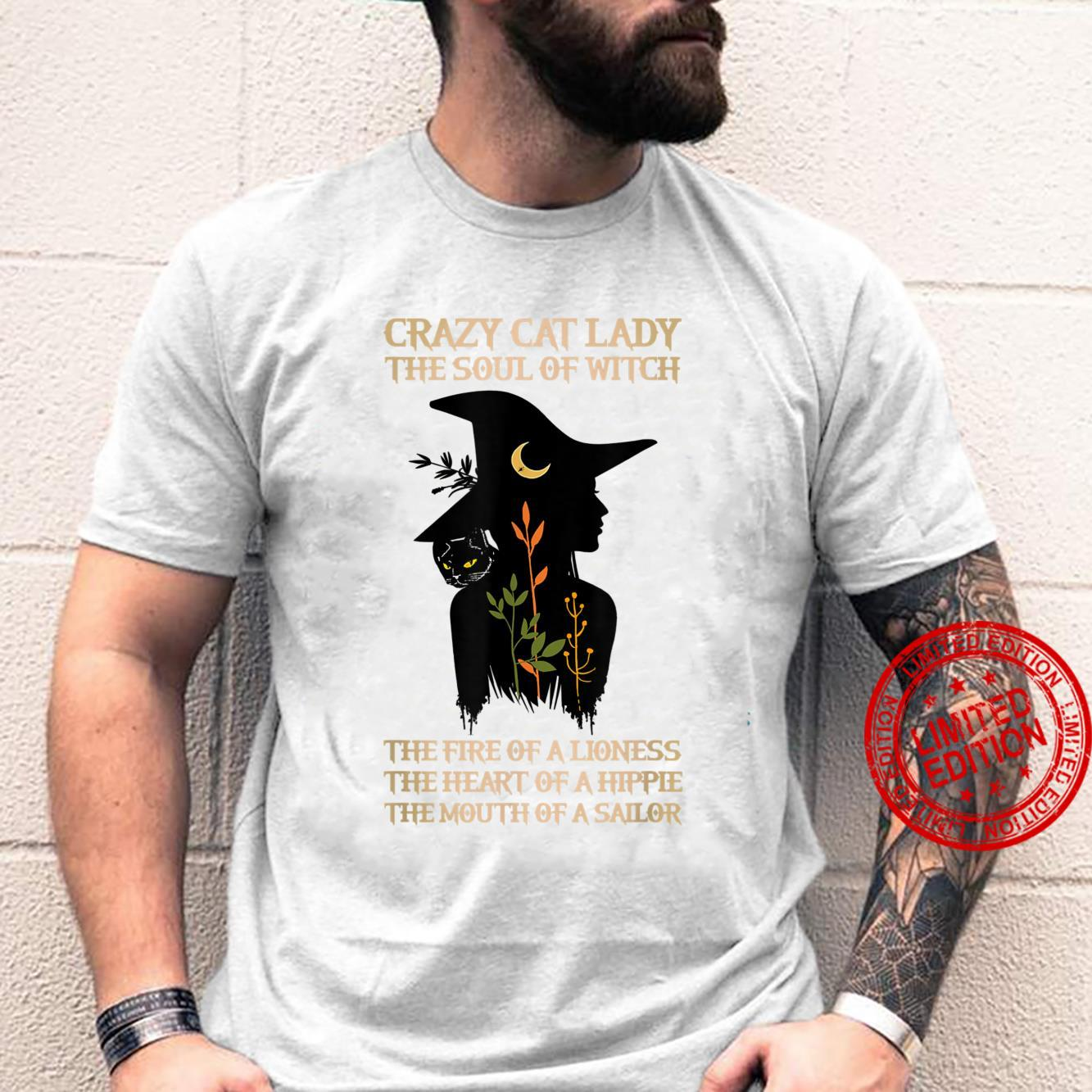 Crazy Cat Lady The Soul Of A Witch Shirt