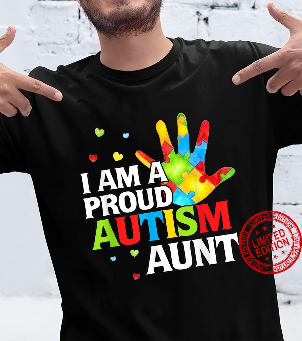 Cute Autism Awareness I'm A Proud Autism Aunt Shirt