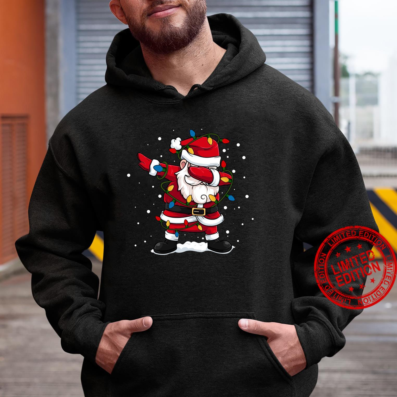 Dabbing Santa Claus Christmas Tree Lights Boys Dab Shirt hoodie