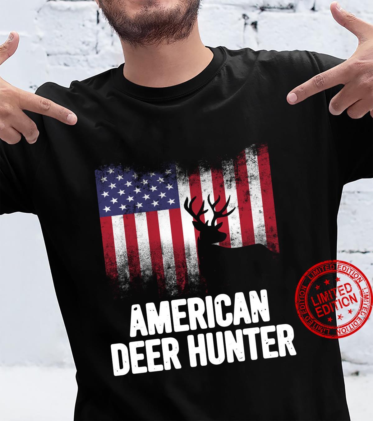 Deer Hunting American Flag Deer Hunting for Hunter Patriotic Shirt