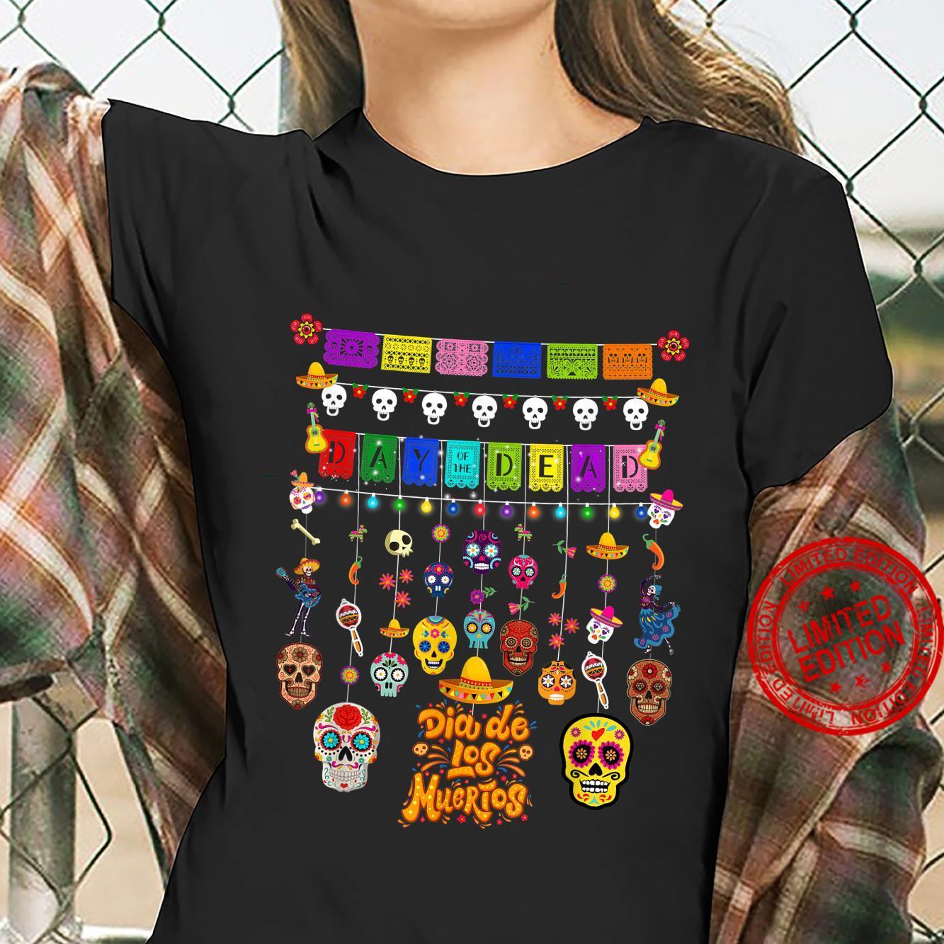 Dia De Los Muertos Day of the dead Hanging skulls Shirt ladies tee