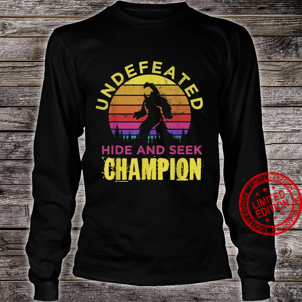 Distressed Retro Quote Undefeated Hide Bigfoots Yeti Shirt long sleeved