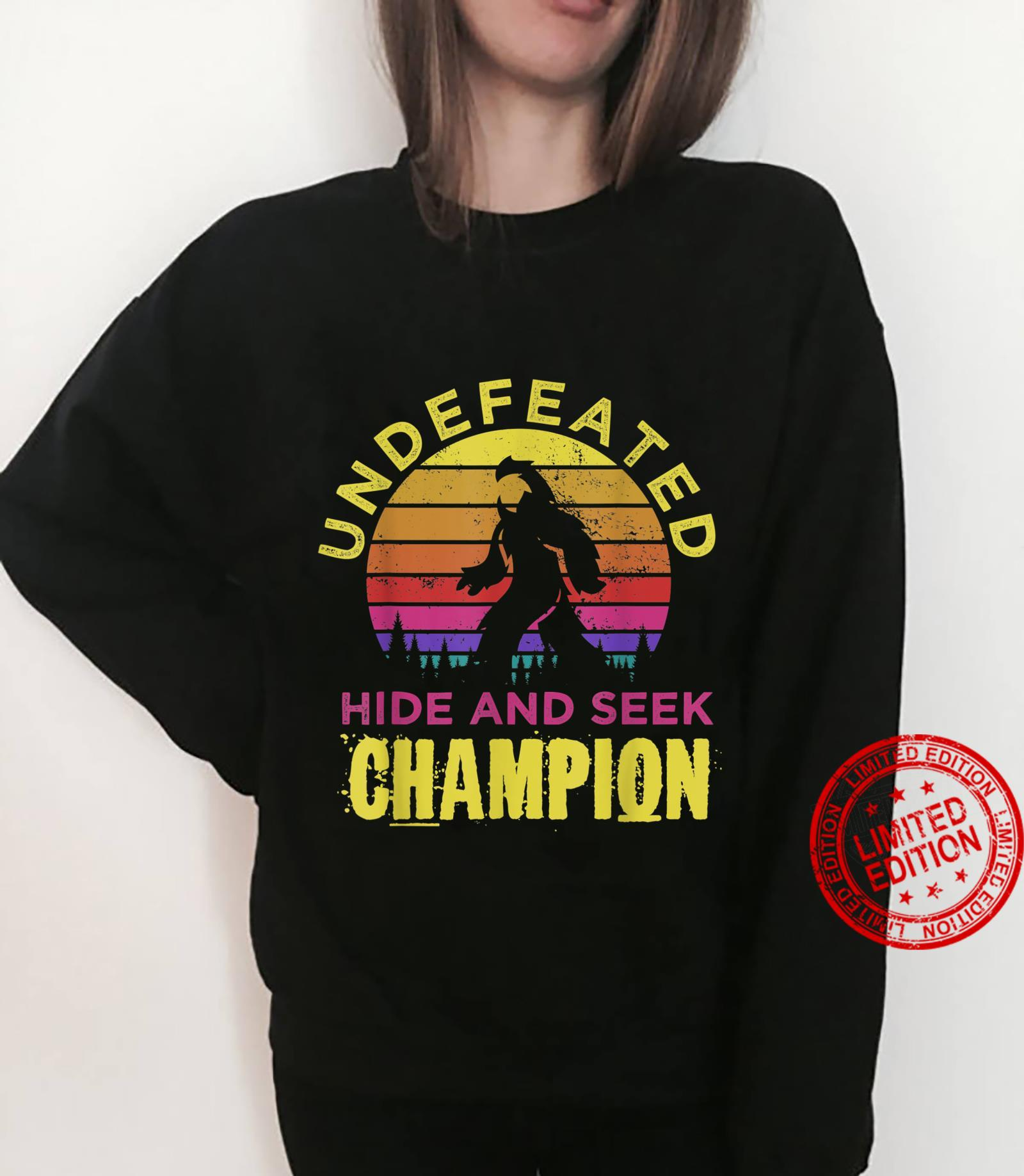 Distressed Retro Quote Undefeated Hide Bigfoots Yeti Shirt sweater