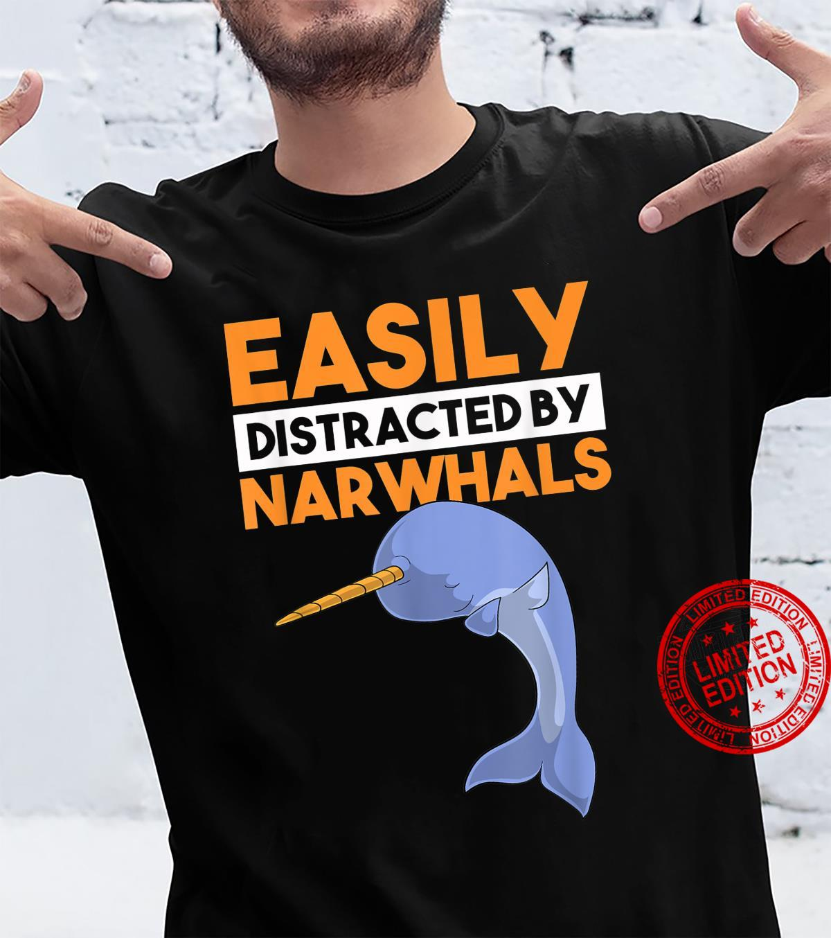 Easily Distracted By Narwhals Whale Dabbing Dab Shirt