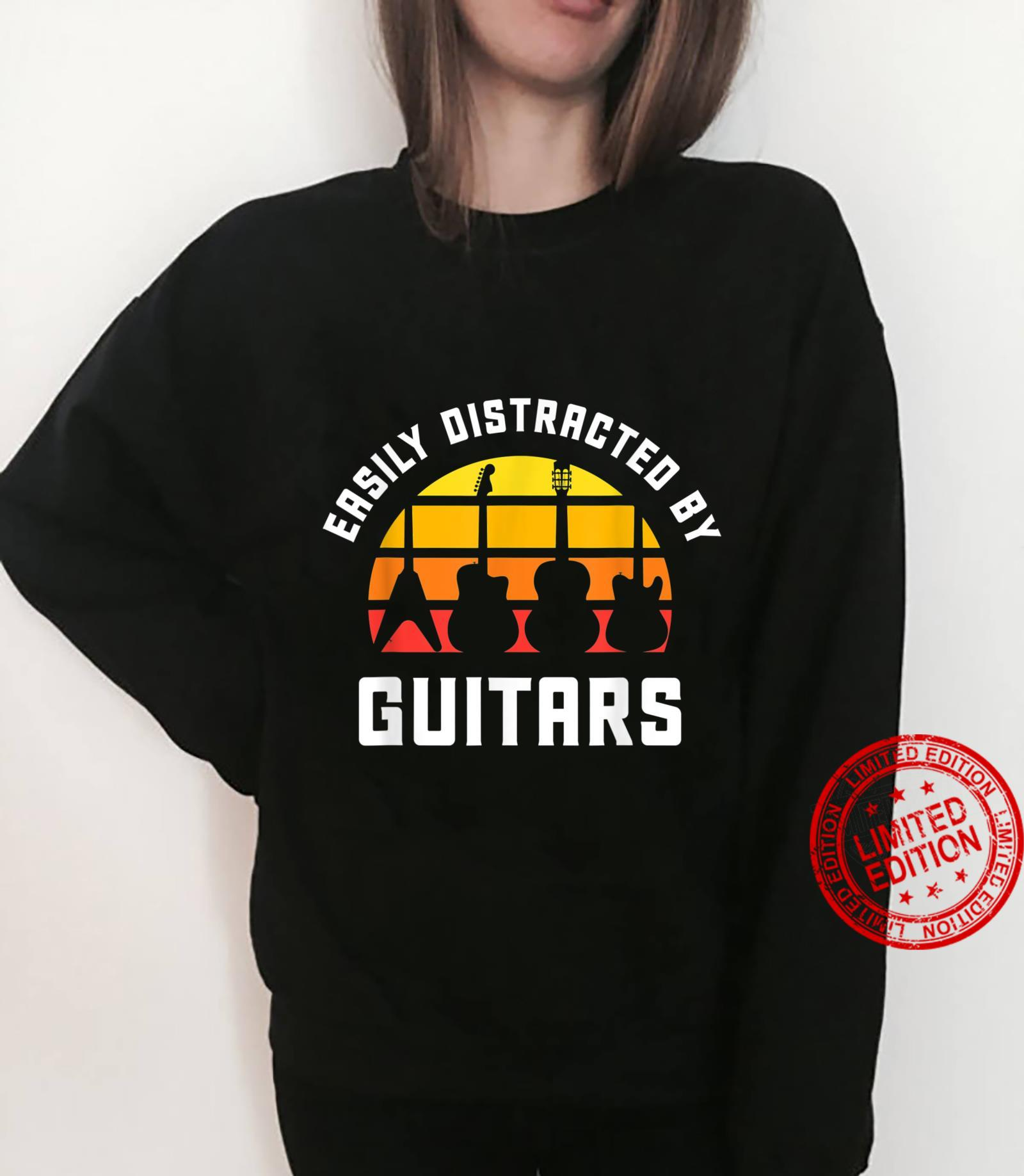 Easily Distracted by Guitars Love Guitar Player Musician Shirt sweater