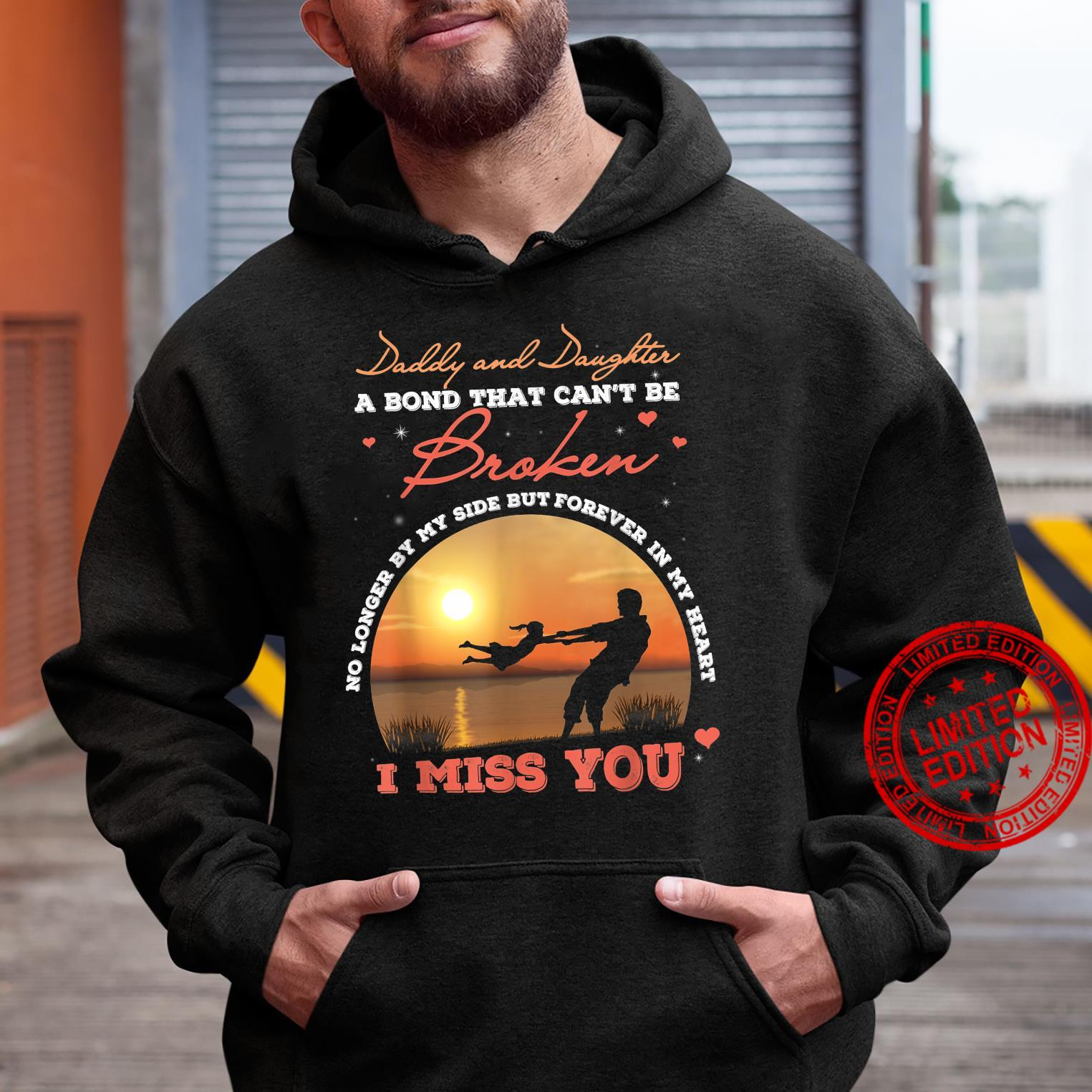 Fathers Day Daddy and Daughter a Bond That Can Be Broke Shirt hoodie