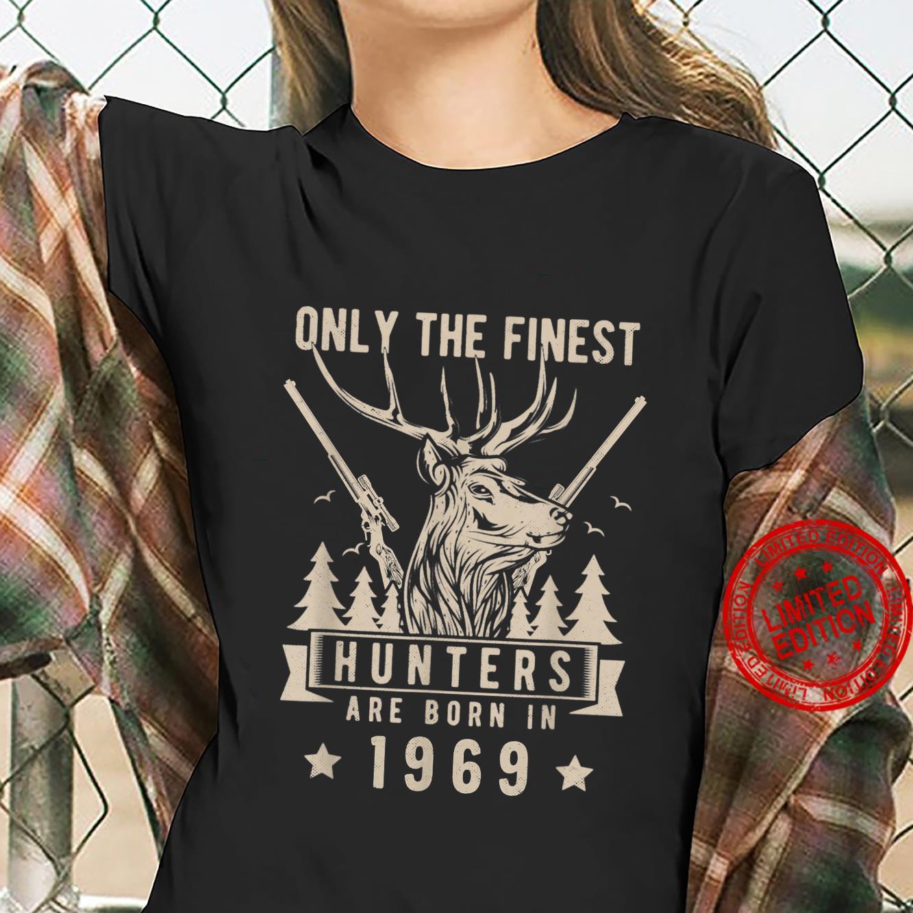 Finest Hunter Born In 1969 Vintage Deer Hunting Birthday Shirt ladies tee