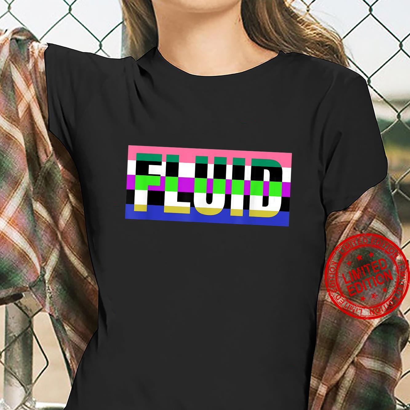 Fluid Genderfluid Pride Flag for NonBinary or Genderqueer Shirt ladies tee