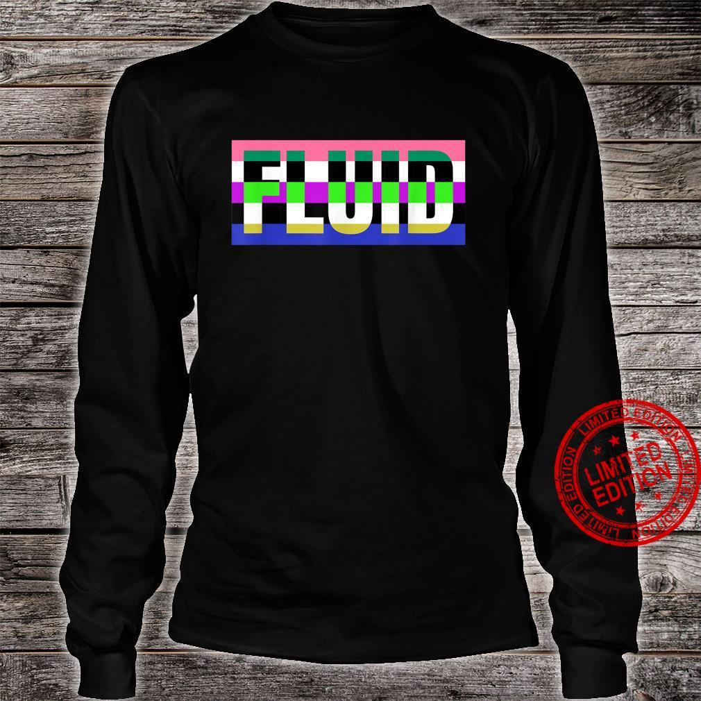 Fluid Genderfluid Pride Flag for NonBinary or Genderqueer Shirt long sleeved
