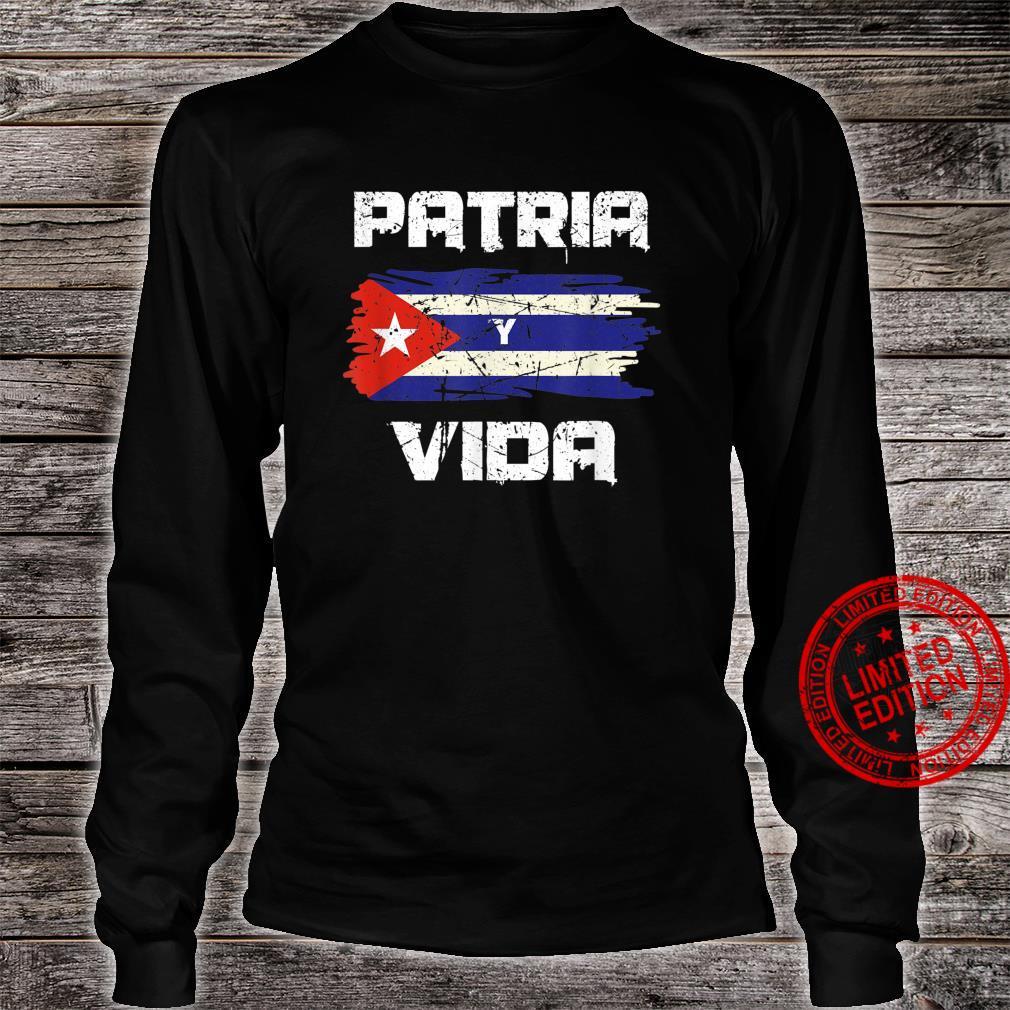 Free Cuba Libre Patria Y Vida Cuba Cuban Flag Revolution Shirt long sleeved