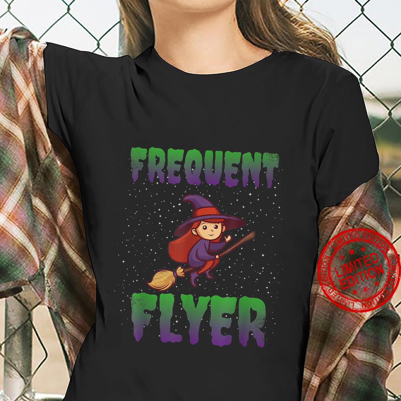 Frequent Flyer Witch Halloween Costume Witch Shirt ladies tee