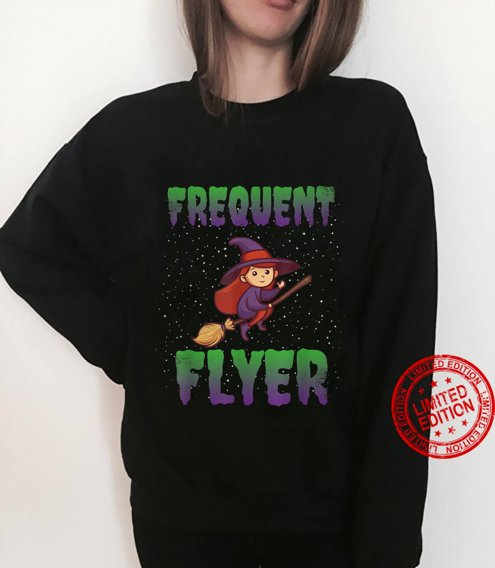 Frequent Flyer Witch Halloween Costume Witch Shirt sweater