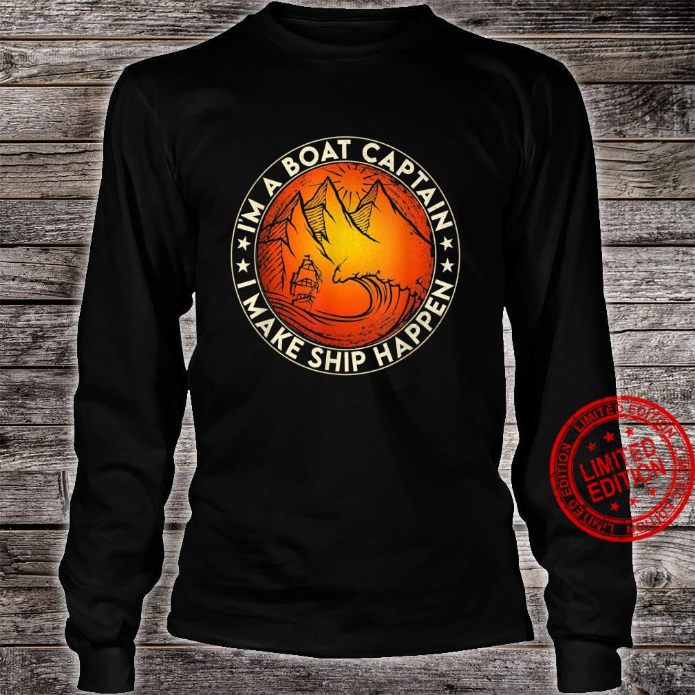 Funny Boating I'm the Boat Captain Boat Owners Retro Vintage Shirt long sleeved